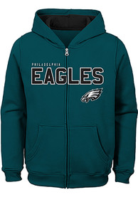 huge discount e93de 1e8a8 Philadelphia Eagles Youth Midnight Green Stated Full Zip Jacket