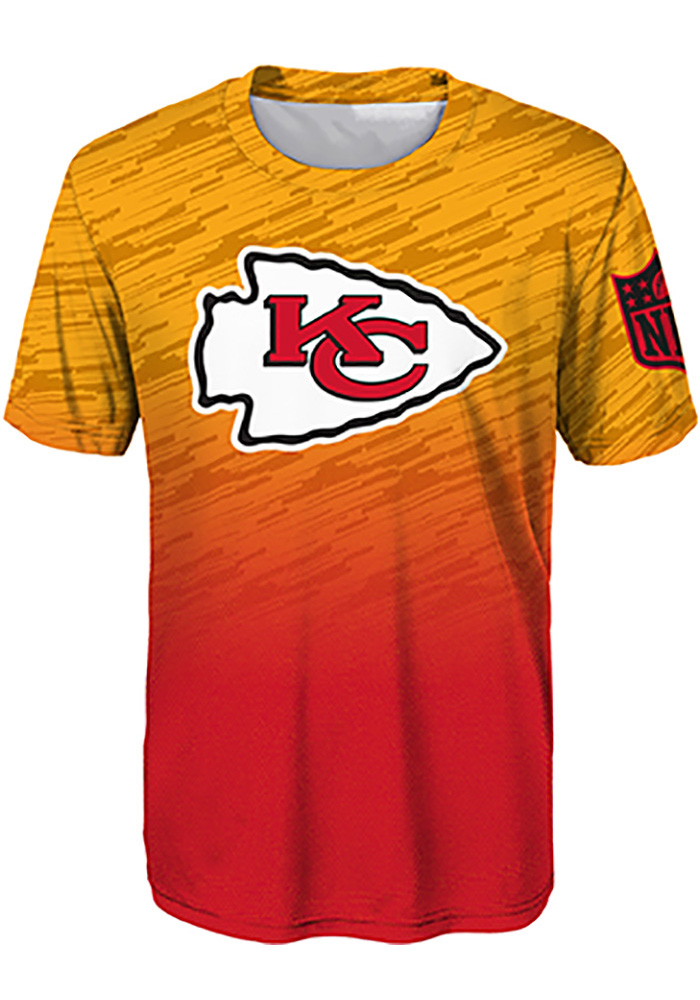 Kansas City Chiefs Youth Red Propulsion Short Sleeve T-Shirt - Image 1