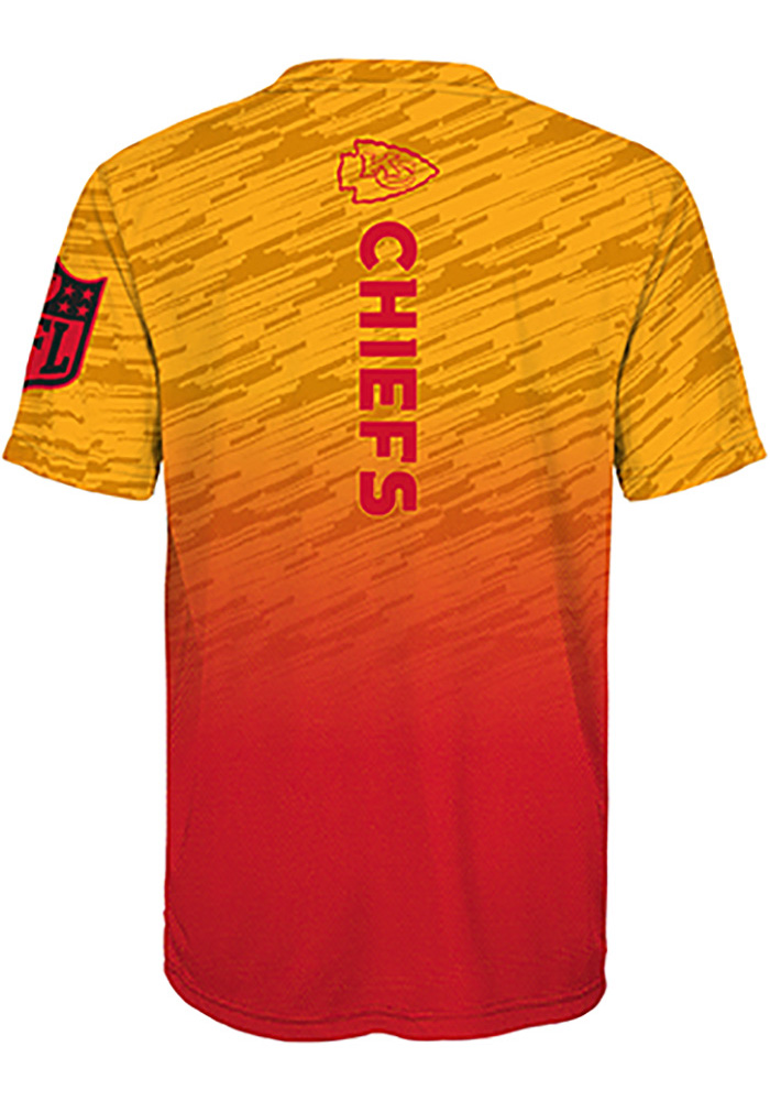 Kansas City Chiefs Youth Red Propulsion Short Sleeve T-Shirt - Image 2