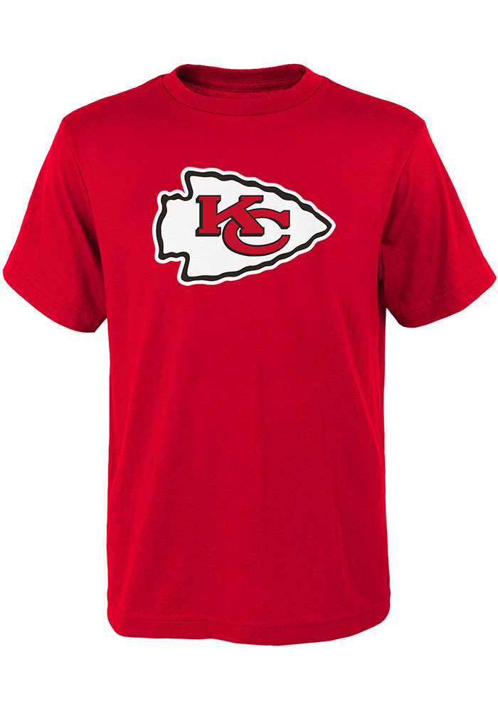 Kansas City Chiefs Youth Red Primary Logo Short Sleeve T-Shirt - Image 1