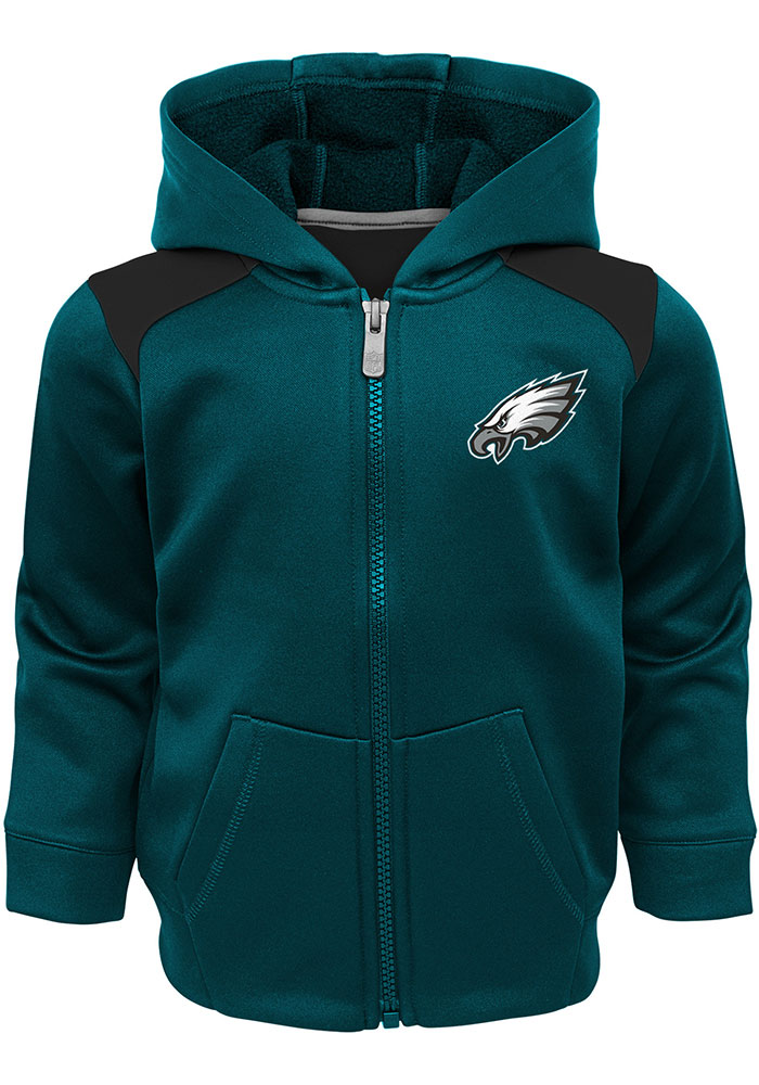 Philadelphia Eagles Infant Midnight Green Play Action Set Top and Bottom - Image 2