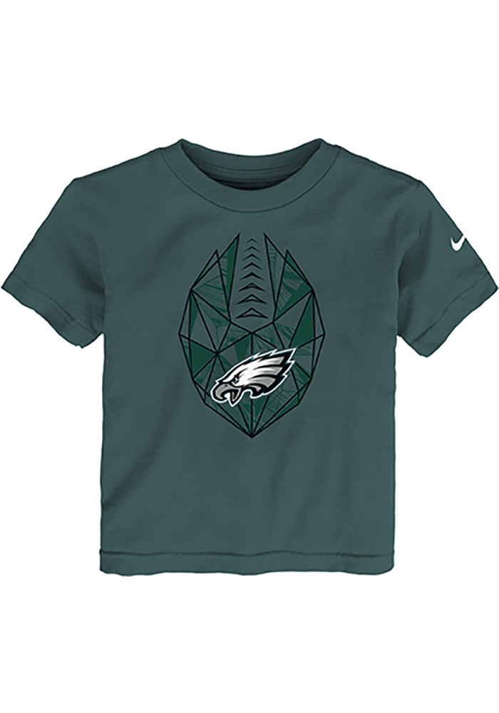 Philadelphia Eagles Toddler Midnight Green Football Icon Short Sleeve T-Shirt - Image 1