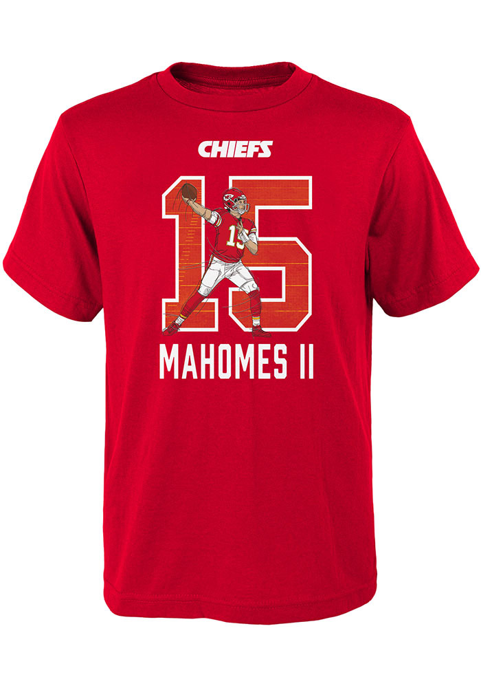 Patrick Mahomes Outer Stuff Kansas City Chiefs Youth Lazer N N Red Player  Tee 2306613b5