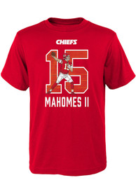 Patrick Mahomes Kansas City Chiefs Youth Lazer Name and Number T-Shirt - Red
