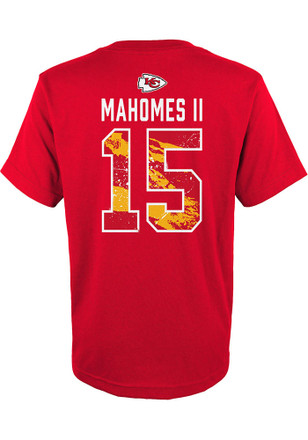 47f7aa793f6 Patrick Mahomes Outer Stuff Kansas City Chiefs Youth Ripper N N Red Player  Tee
