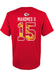 Patrick Mahomes Outer Stuff Kansas City Chiefs Youth Ripper N N Red Player  Tee 7fd6242b2