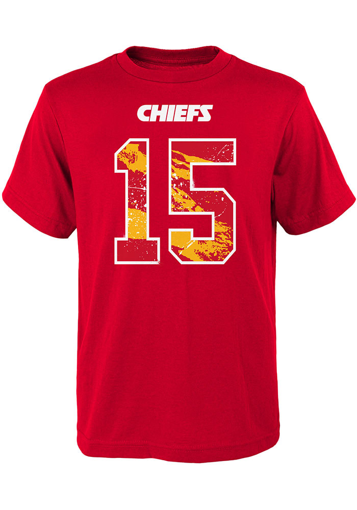 Patrick Mahomes Kansas City Chiefs Youth Red Ripper Name and Number Player Tee - Image 2
