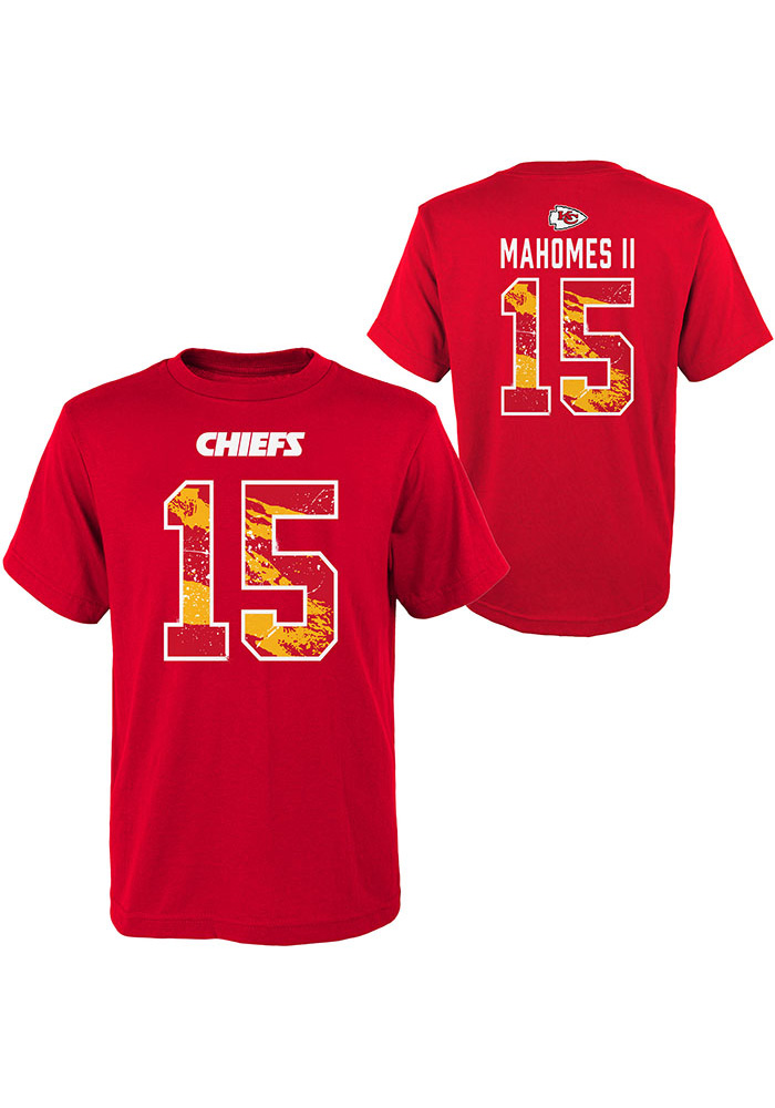 Patrick Mahomes Kansas City Chiefs Youth Red Ripper Name and Number Player Tee - Image 3