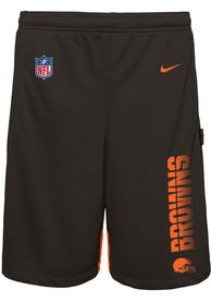 Cleveland Browns Youth Knit Player Shorts - Brown