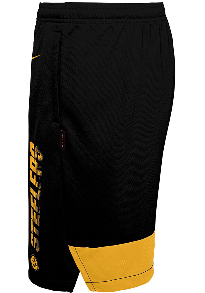 Pittsburgh Steelers Youth Black Knit Player Shorts - Image 2