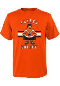 Gritty Philadelphia Flyers Youth Outer Stuff Gritty Life T-Shirt - Orange