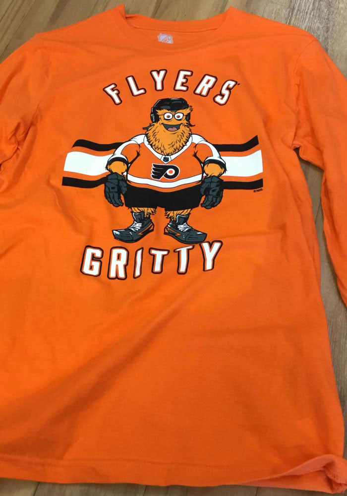 Gritty Outer Stuff Philadelphia Flyers Youth Orange Gritty Life Long Sleeve T-Shirt - Image 2