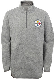 Pittsburgh Steelers Youth MVP Quarter Zip - Grey