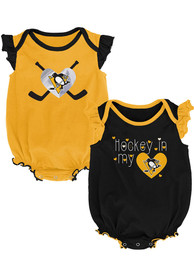 Pittsburgh Penguins Baby Team Player One Piece - Black