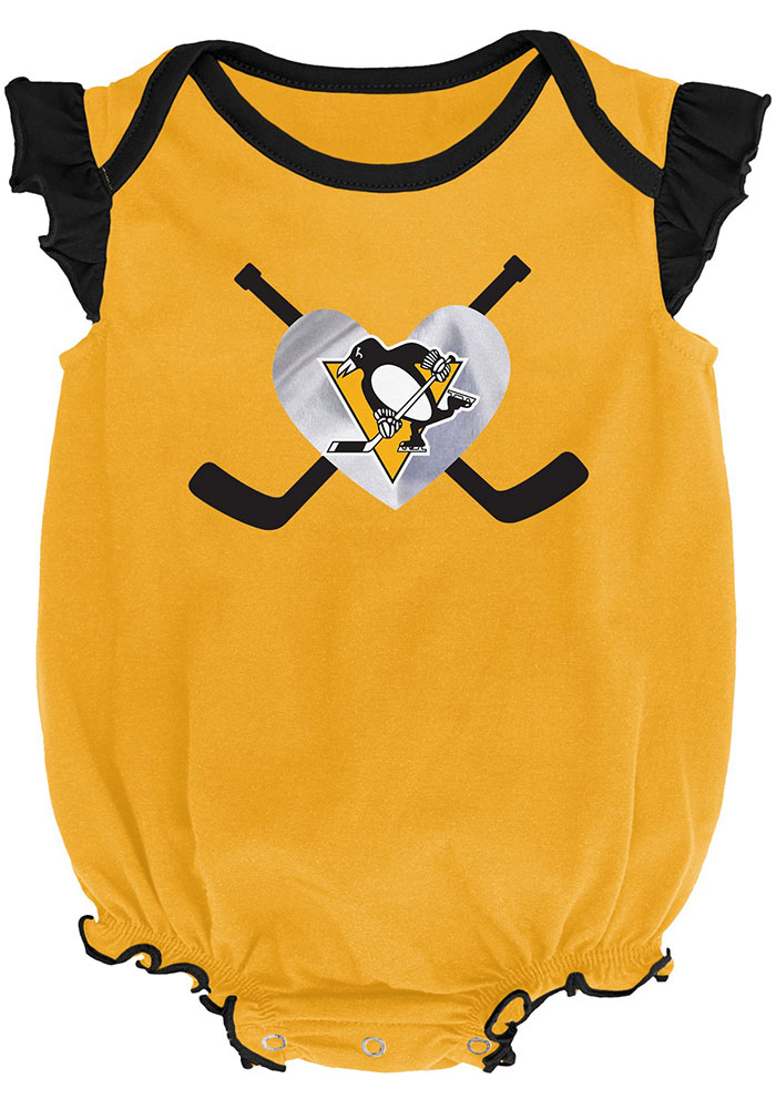 Pittsburgh Penguins Baby Black Team Player Set One Piece - Image 3