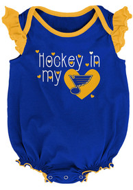 St Louis Blues Baby Team Player One Piece - Blue
