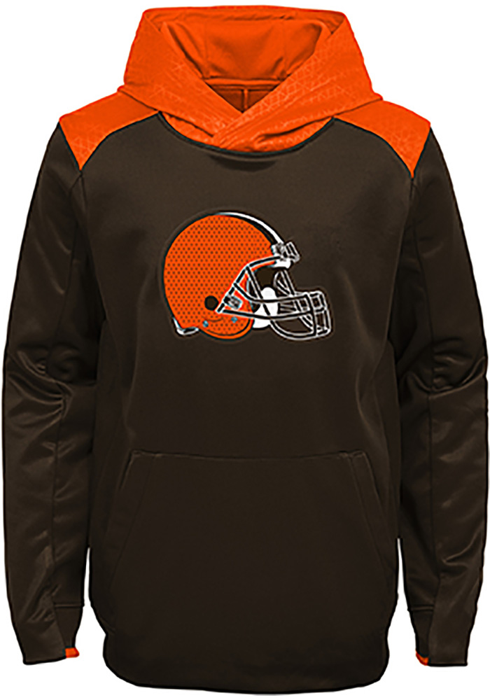 Cleveland Browns Boys Brown Off the Grid Long Sleeve Hooded Sweatshirt - Image 1