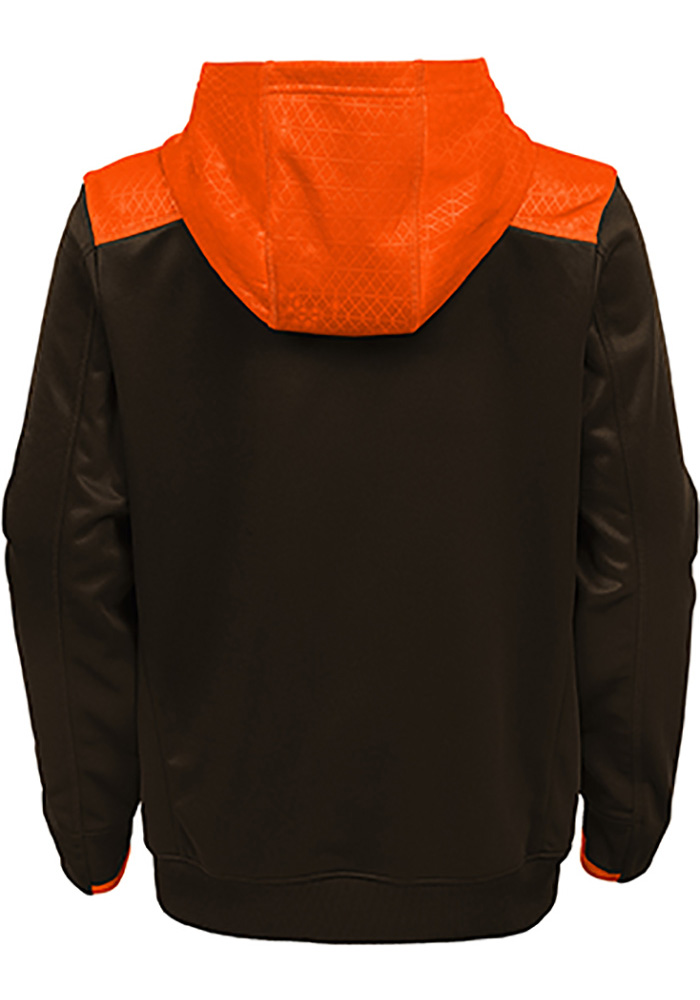 Cleveland Browns Boys Brown Off the Grid Long Sleeve Hooded Sweatshirt - Image 2