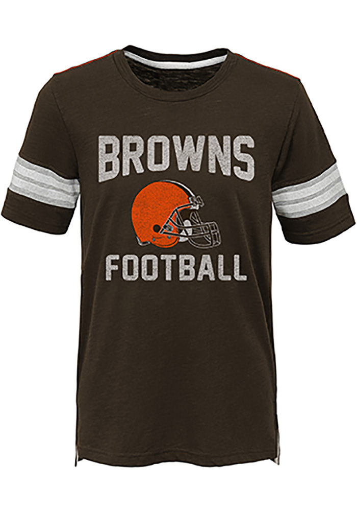 Cleveland Browns Boys Brown Prestige Short Sleeve Fashion Tee - Image 1