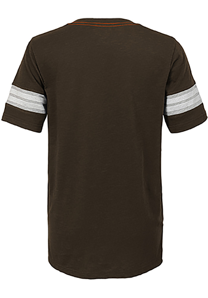 Cleveland Browns Boys Brown Prestige Short Sleeve Fashion Tee - Image 2