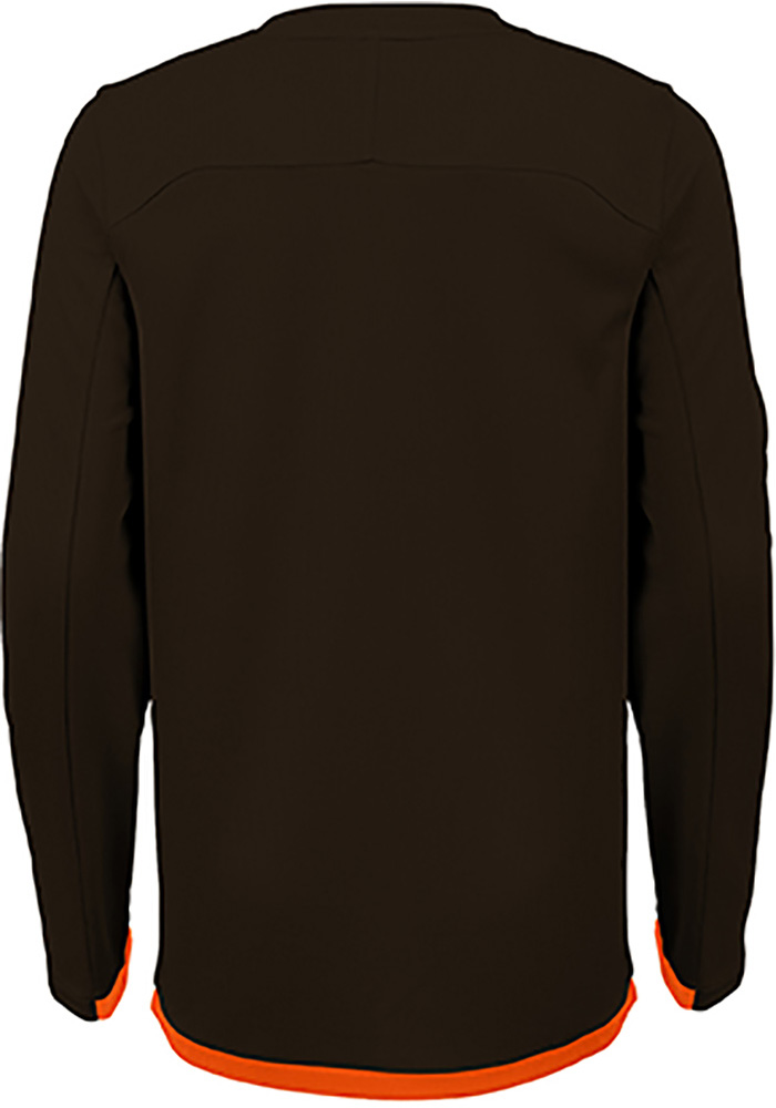 Cleveland Browns Boys Brown Mainframe Long Sleeve T-Shirt - Image 2
