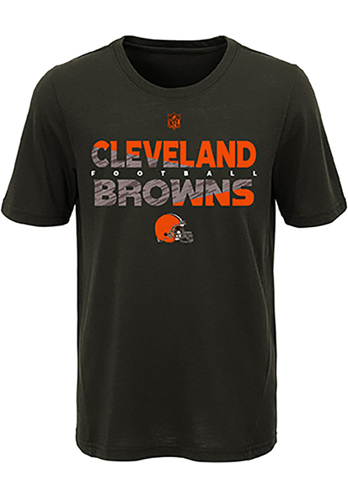 Cleveland Browns Youth Brown Flux Short Sleeve T-Shirt - Image 1