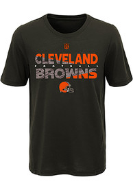 5e9794e3544 Cleveland Browns Youth Brown Flux T-Shirt