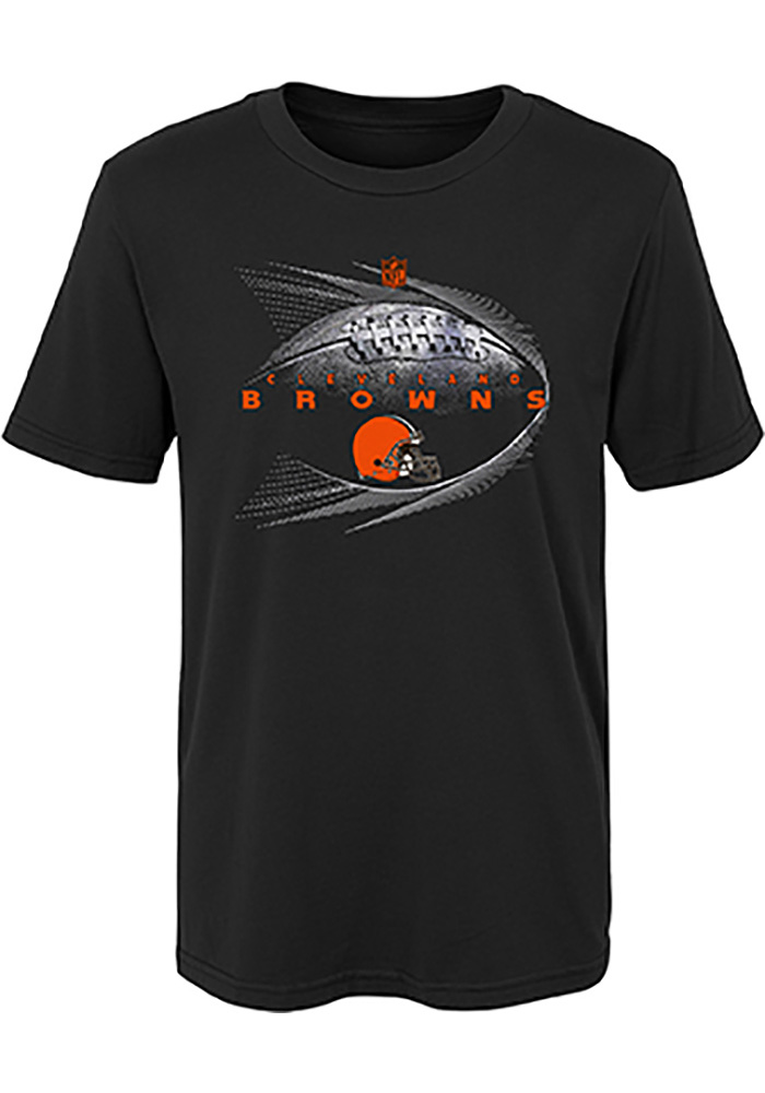 Cleveland Browns Youth Black Jet Stream Short Sleeve T-Shirt - Image 1