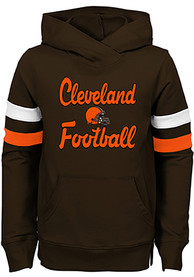 2f5b0d22 Cleveland Browns Girls Brown Claim to Fame Hooded Sweatshirt