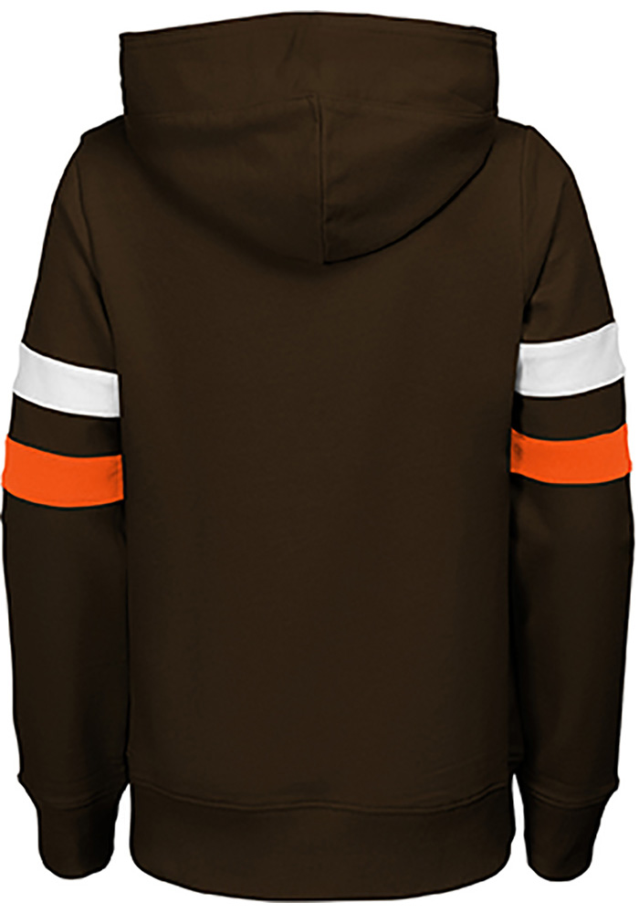 Cleveland Browns Girls Brown Claim to Fame Long Sleeve Hooded Sweatshirt - Image 2