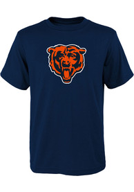 Chicago Bears Youth Primary Logo T-Shirt - Navy Blue