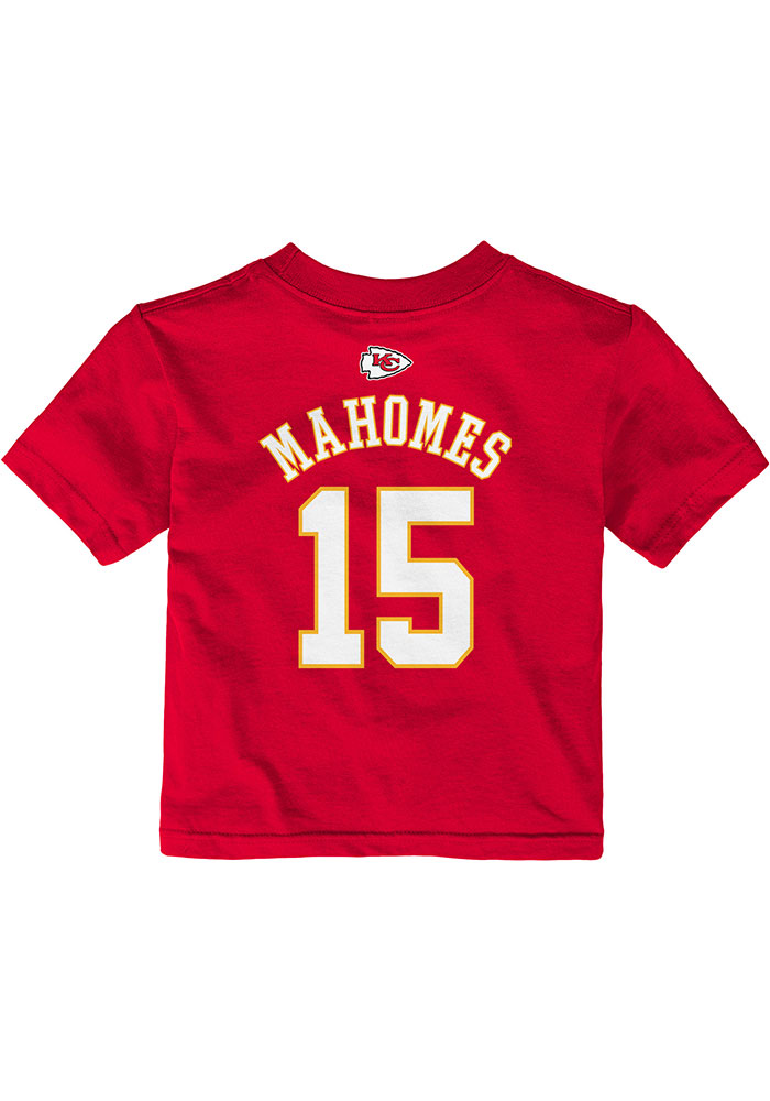 Patrick Mahomes Kansas City Chiefs Infant Mainliner SS Short Sleeve T-Shirt Red - Image 1
