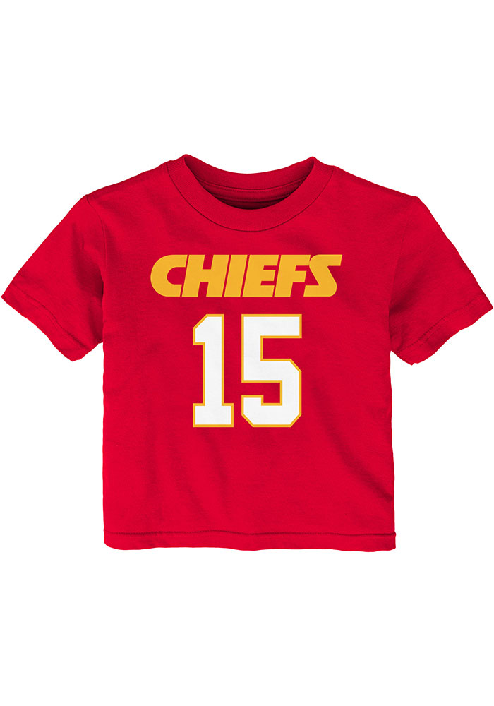 Patrick Mahomes Kansas City Chiefs Infant Mainliner SS Short Sleeve T-Shirt Red - Image 2