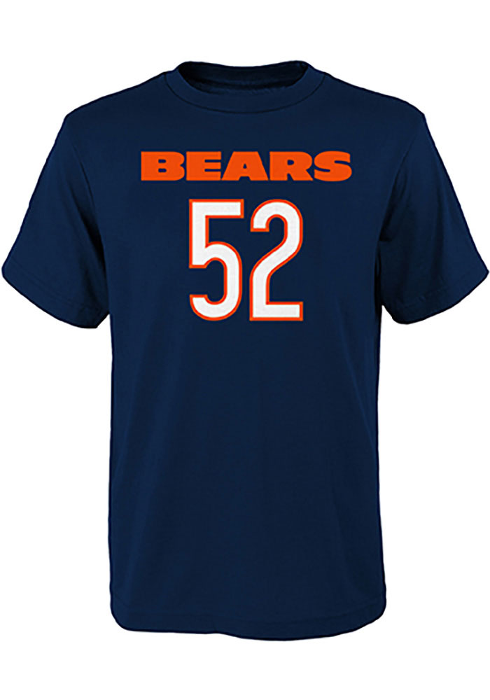 Khalil Mack Chicago Bears Youth Navy Blue Mainliner SS Player Tee - Image 2