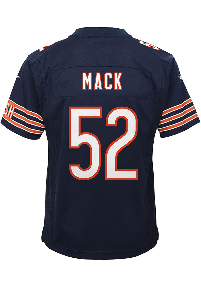 Khalil Mack Chicago Bears Youth Navy Blue Nike Game Team Football Jersey - Image 1