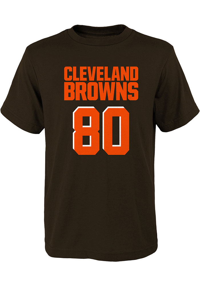 Jarvis Landry Cleveland Browns Youth Brown Mainliner SS Player Tee - Image 2