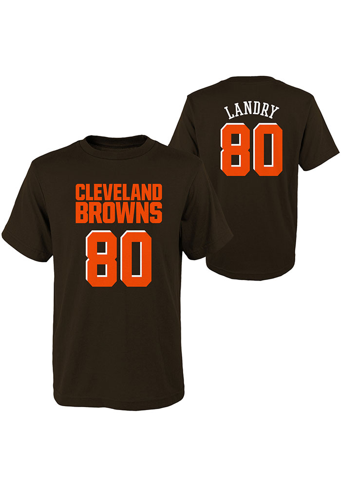 Jarvis Landry Cleveland Browns Youth Brown Mainliner SS Player Tee - Image 3