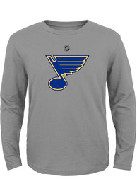 St Louis Blues Youth Primary Logo T-Shirt - Grey