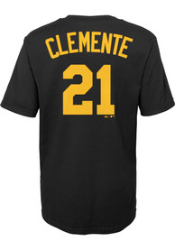 Roberto Clemente Pittsburgh Pirates Boys Outer Stuff Name and Number T-Shirt - Black