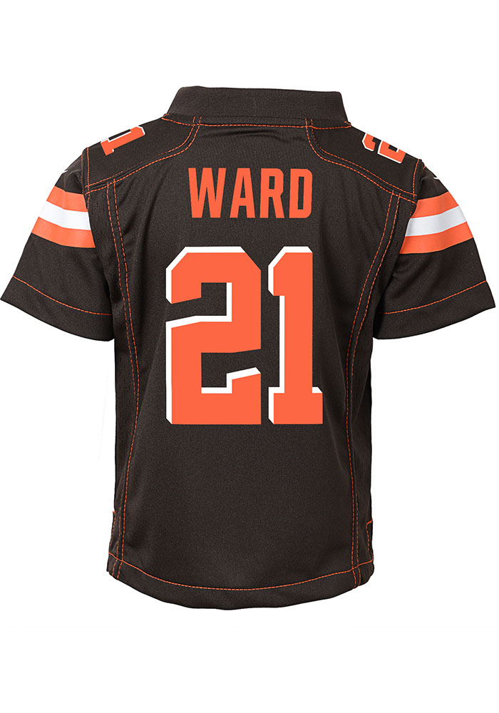Denzel Ward Outer Stuff Cleveland Browns Boys Brown Gameday Jersey Football Jersey - Image 1