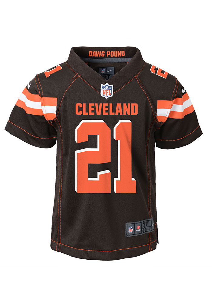 Denzel Ward Outer Stuff Cleveland Browns Boys Brown Gameday Jersey Football Jersey - Image 2
