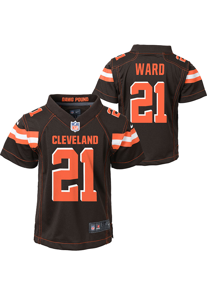 Denzel Ward Outer Stuff Cleveland Browns Boys Brown Gameday Jersey Football Jersey - Image 3