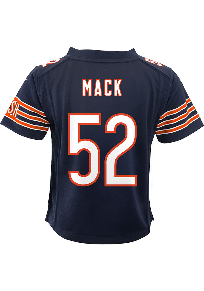 huge selection of 313eb e2f36 Khalil Mack Chicago Bears Baby Navy Blue Game Home Jersey Jersey Football  Jersey