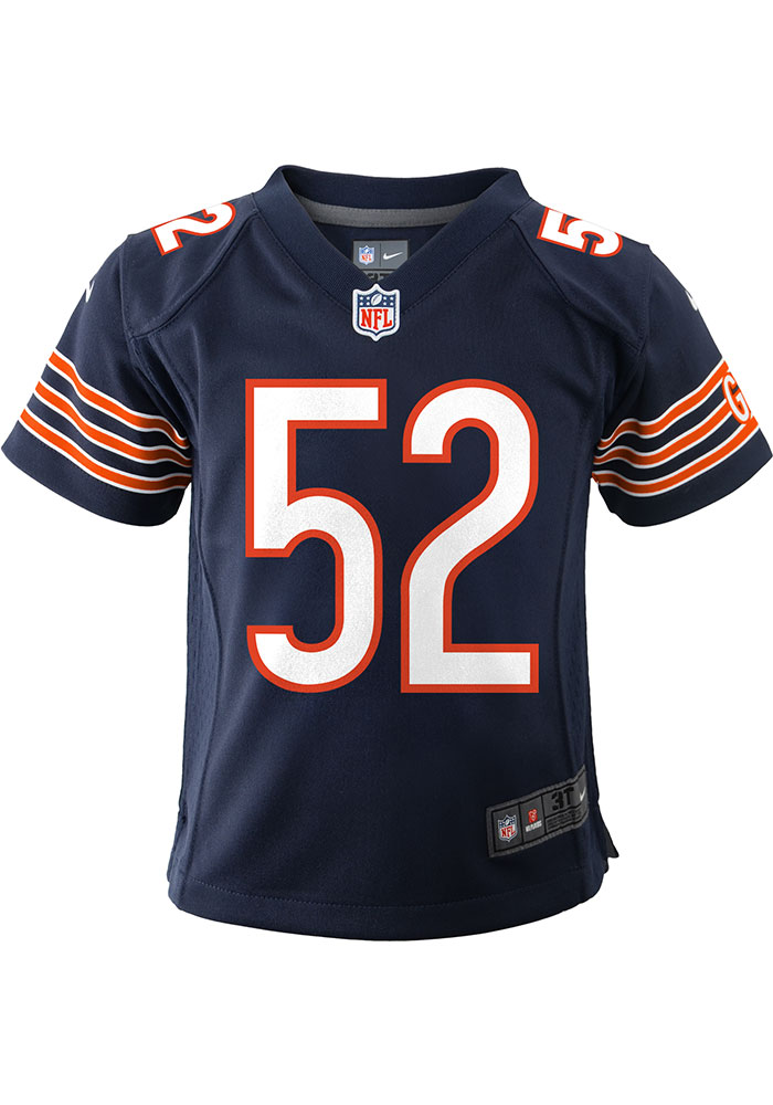 Khalil Mack Chicago Bears Baby Navy Blue Nike Game Home Football Jersey - Image 2