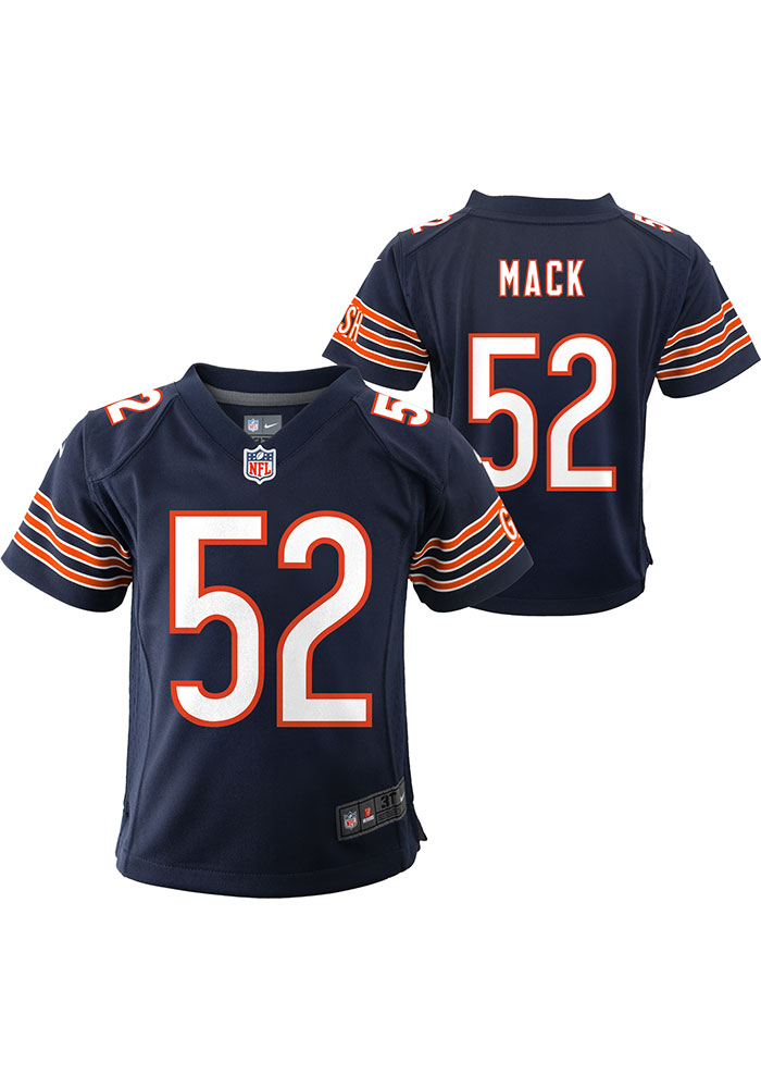 Khalil Mack Chicago Bears Baby Navy Blue Nike Game Home Football Jersey - Image 3