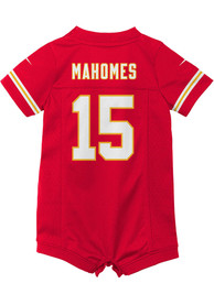 Patrick Mahomes Kansas City Chiefs Baby Nike Romper Football Jersey - Red