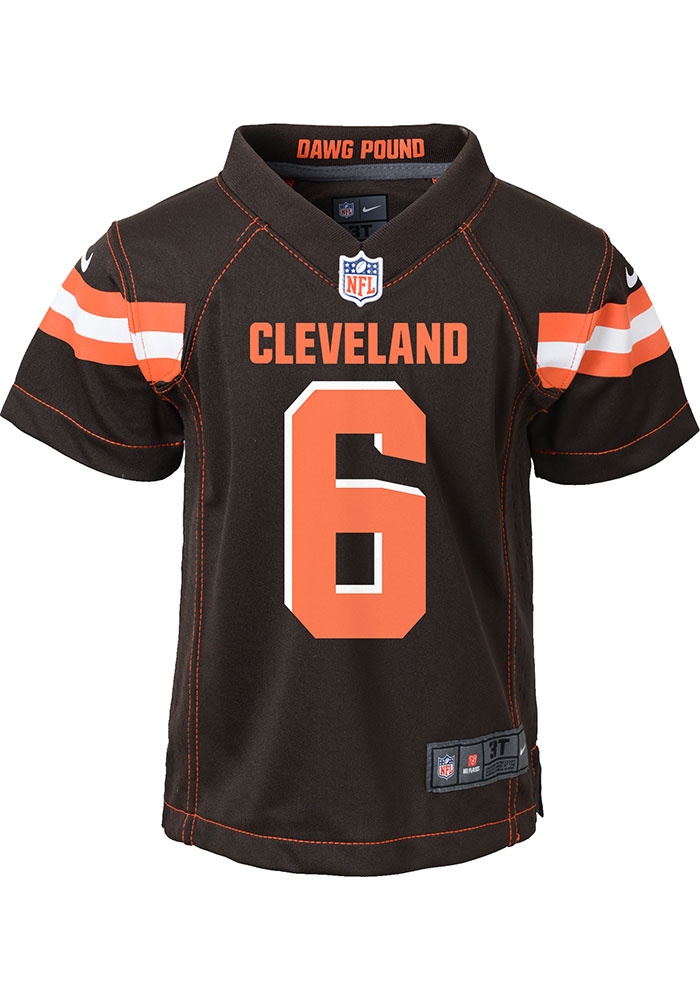 best website 995a7 f97b7 Baker Mayfield Cleveland Browns Baby Brown Game Home Jersey Jersey Football  Jersey
