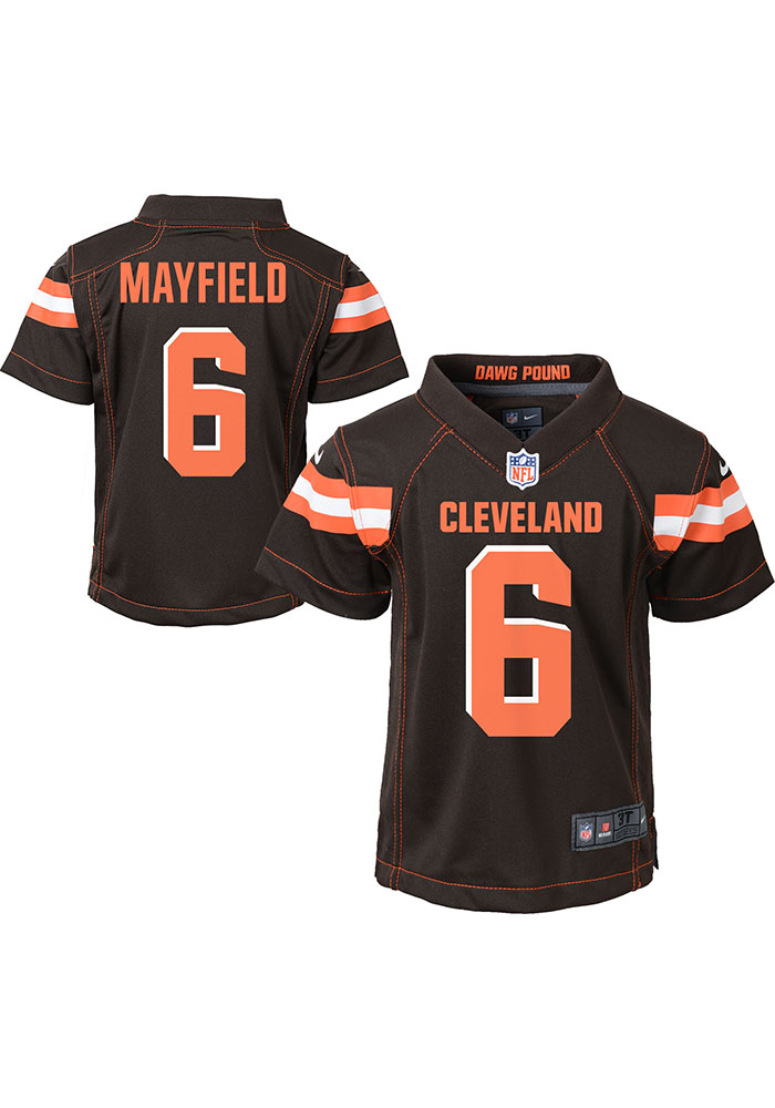 Baker Mayfield Cleveland Browns Baby Brown Game Home Jersey Jersey Football Jersey - Image 3