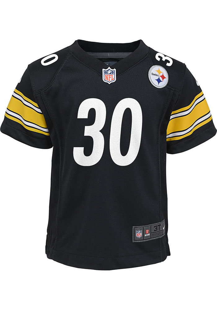 outlet store 120bd 2a88c James Conner Pittsburgh Steelers Toddler Black Gameday Jersey Jersey
