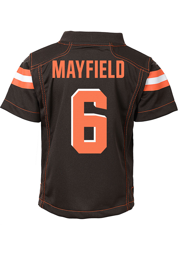 Baker Mayfield Cleveland Browns Toddler Brown Gameday Jersey Jersey - Image 1